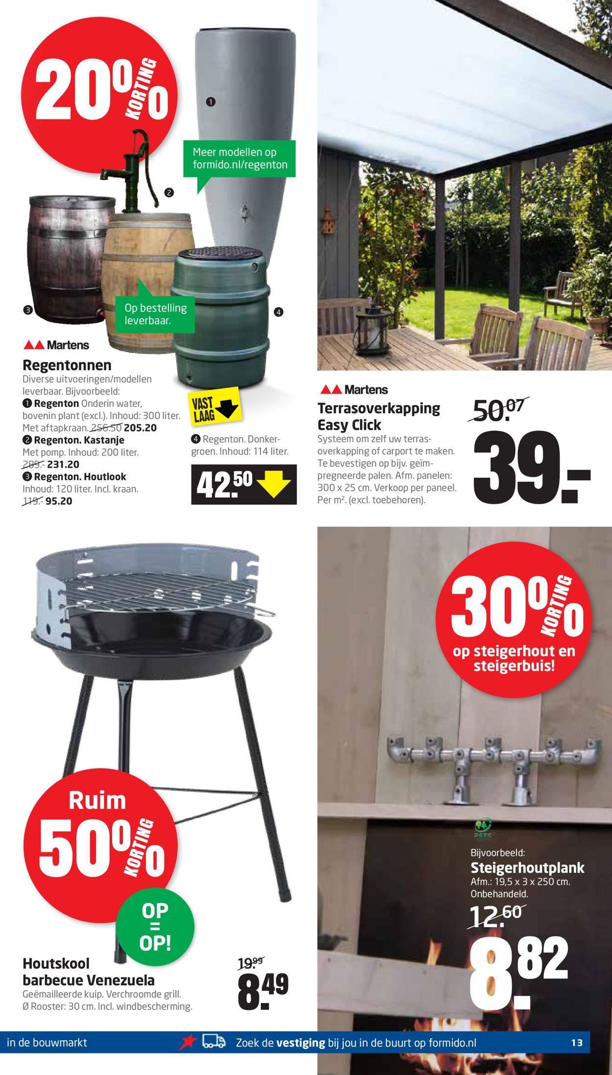 houtskool barbecue folder aanbieding bij Formido details