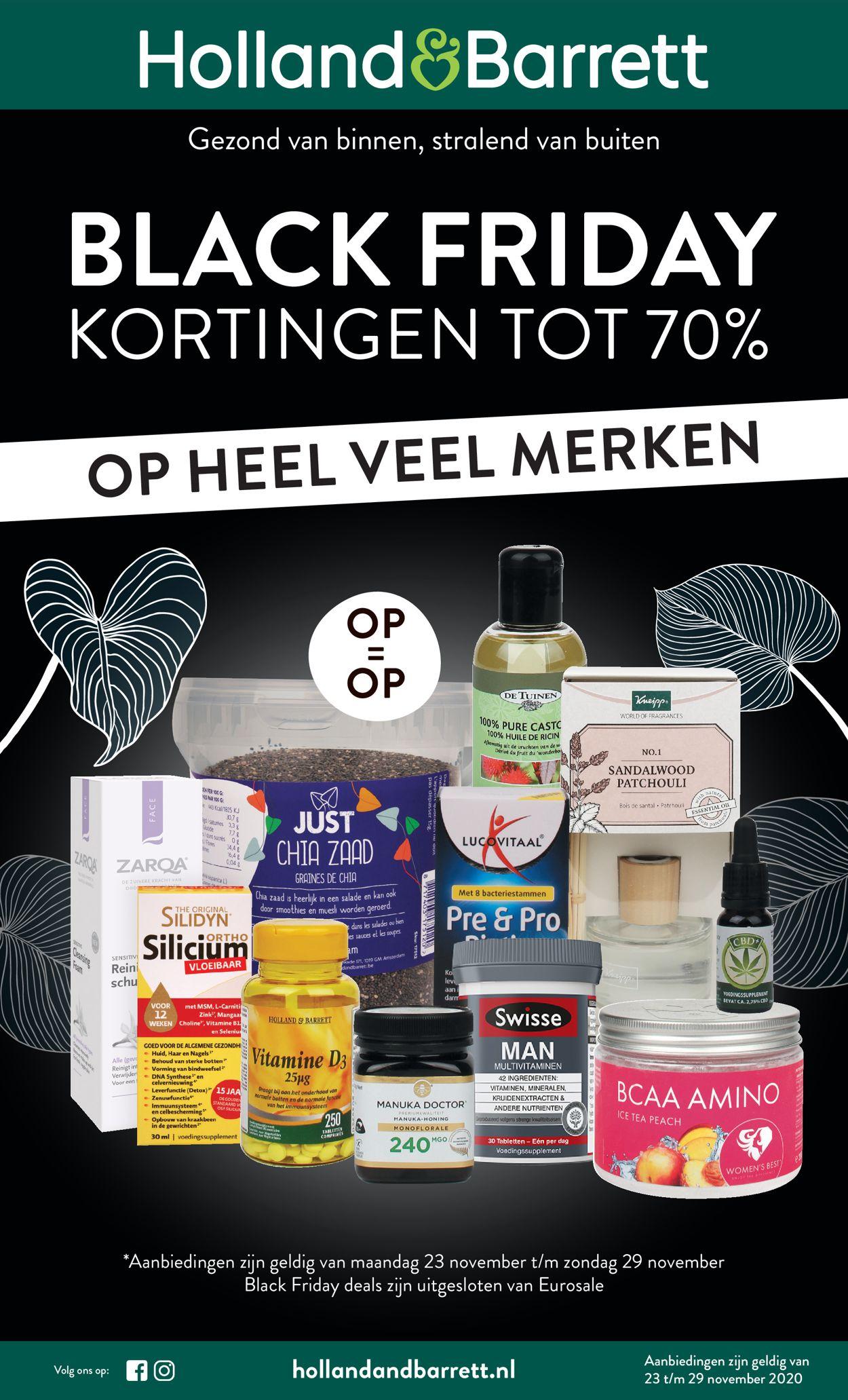 Catalogus van Holland & Barrett - Black Friday 2020 van 23.11.2020