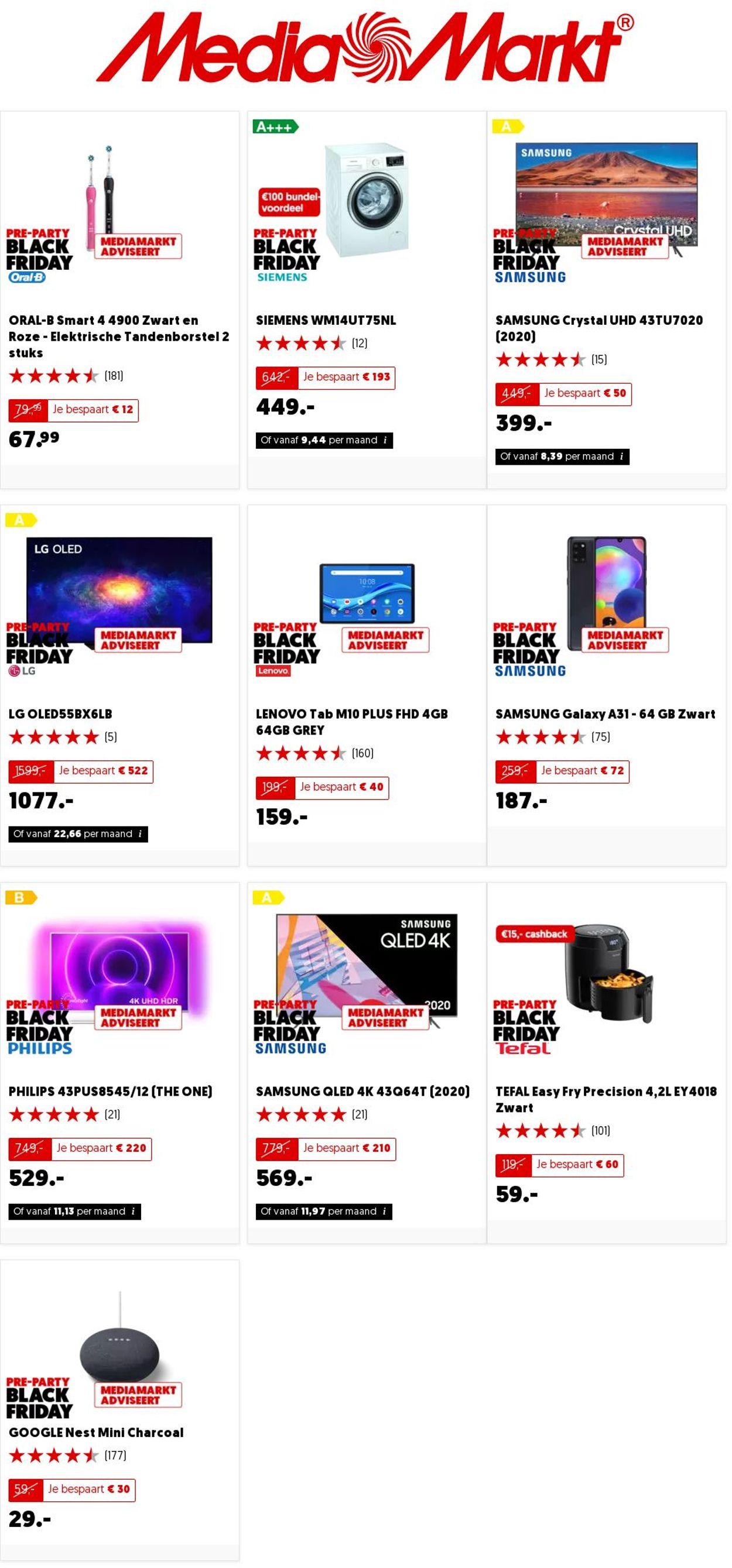 Catalogus van Media Markt Black Friday 2020 van 26.11.2020