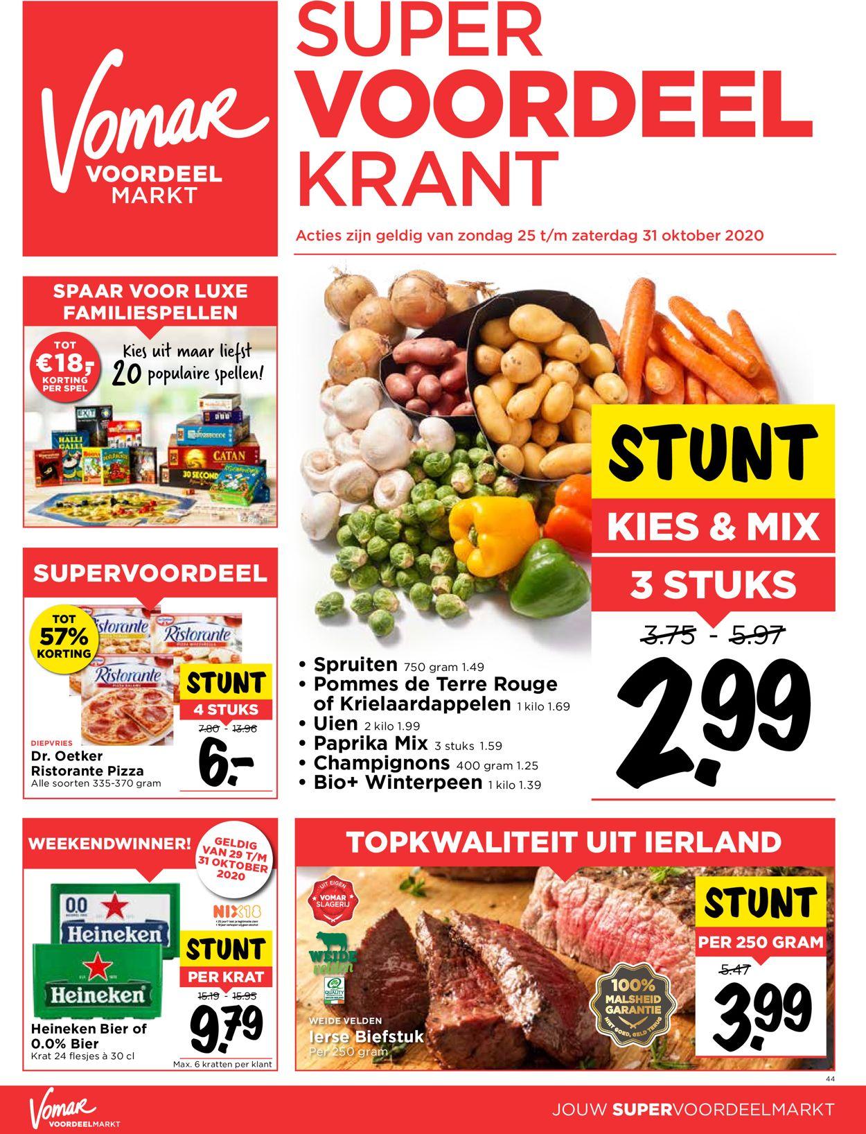 Catalogus van Vomar van 25.10.2020